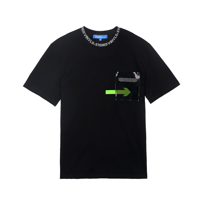 [SS18 ISA] Transparent Pocket T-Shirts(Black) 스테레오 바이널즈