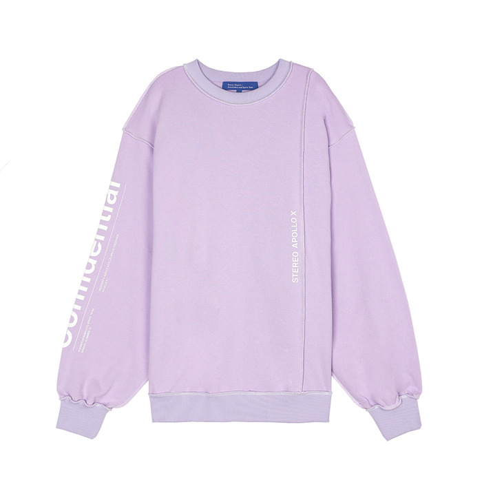 [SS18 ISA] Multi Panel Sweatshirts(Lavender) 스테레오 바이널즈