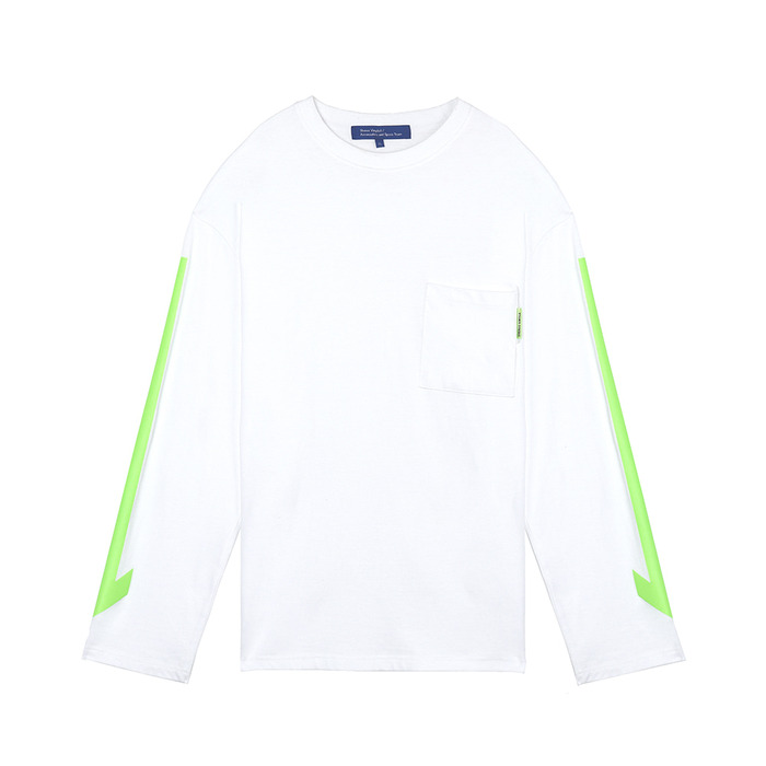 [SS18 ISA] Arrow Long Sleeve(White) 스테레오 바이널즈