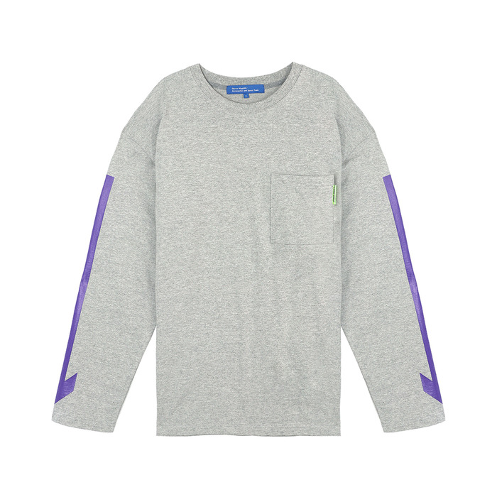 [SS18 ISA] Arrow Long Sleeve(Melange Grey) 스테레오 바이널즈