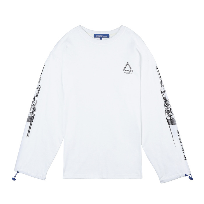[SS18 ISA] Apollo Long Sleeve(White) 스테레오 바이널즈