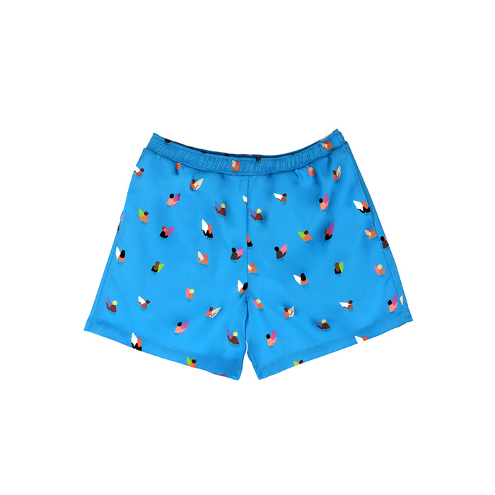 [SS18 NOUNOU] Surfer Pattern Short Pants(Blue) 스테레오 바이널즈