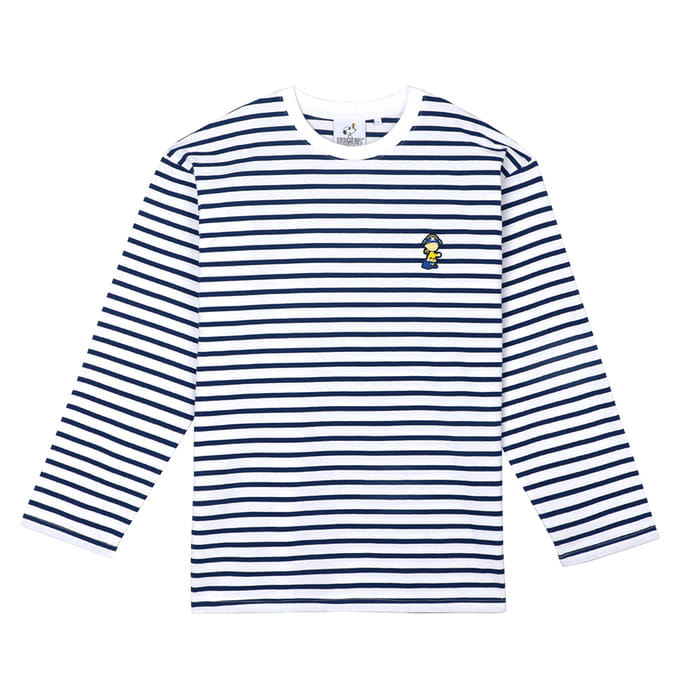 [FW18 Peanuts] Stripe Roundneck Long Sleeve(Navy) 스테레오 바이널즈