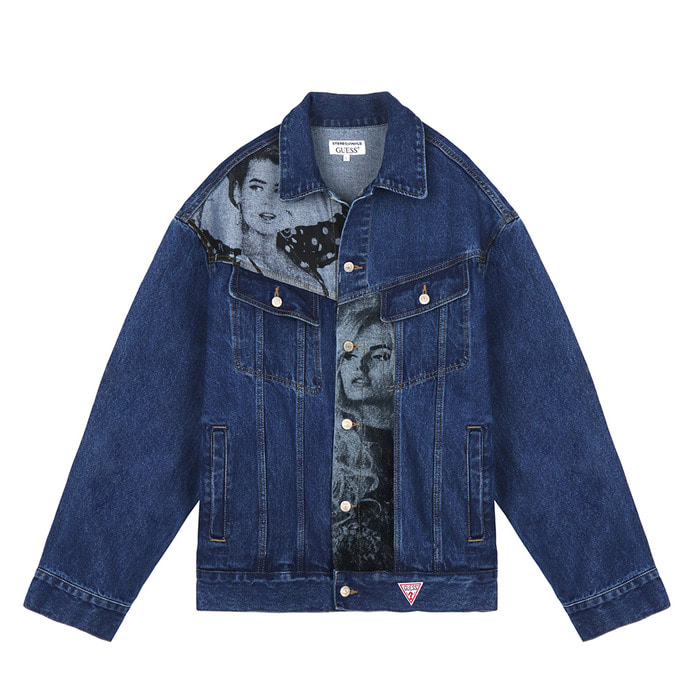 [18FW STEREO X GUESS] Overfit Denim Jacket(Blue) 스테레오 바이널즈