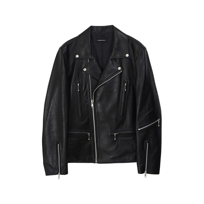 [AW17] Mens Lambskin Rider Jacket(Black) 스테레오 바이널즈
