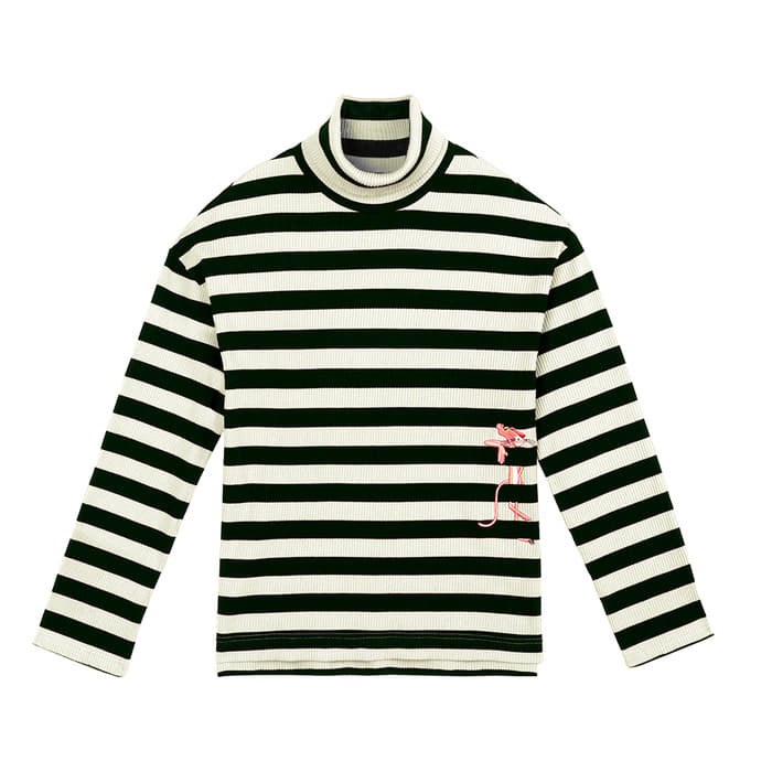 [FW18 Pink Panther] Stripe Turtleneck Long Sleeve(Black) 스테레오 바이널즈