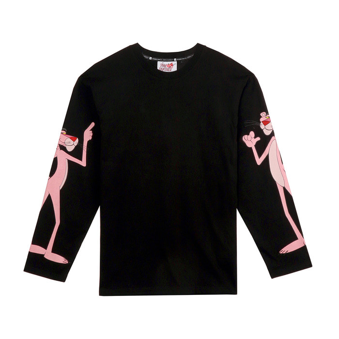 [FW18 Pink Panther] Print Long Sleeve(Black) 스테레오 바이널즈
