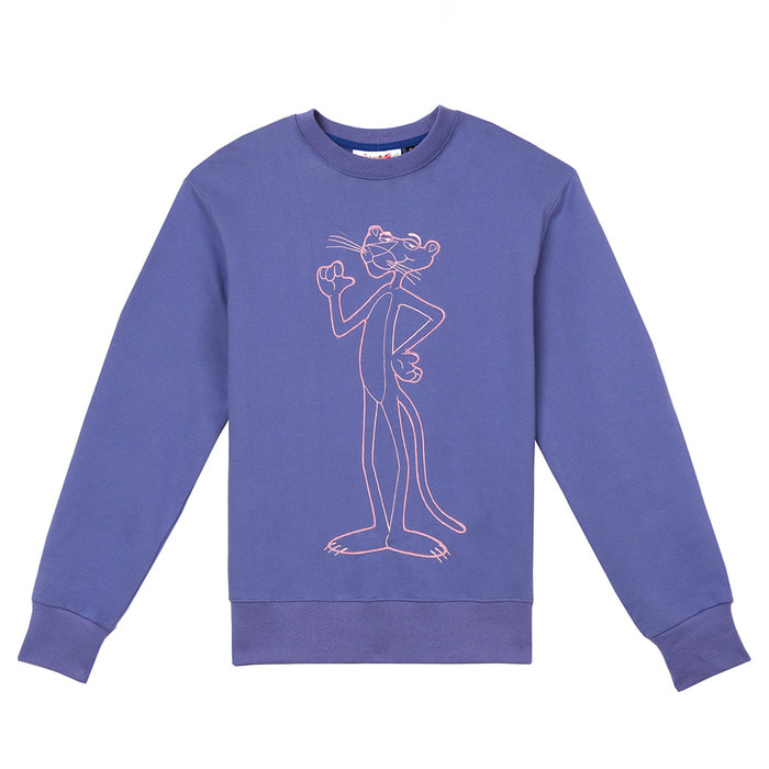[FW18 Pink Panther] String Sweatshirts(Blue) 스테레오 바이널즈