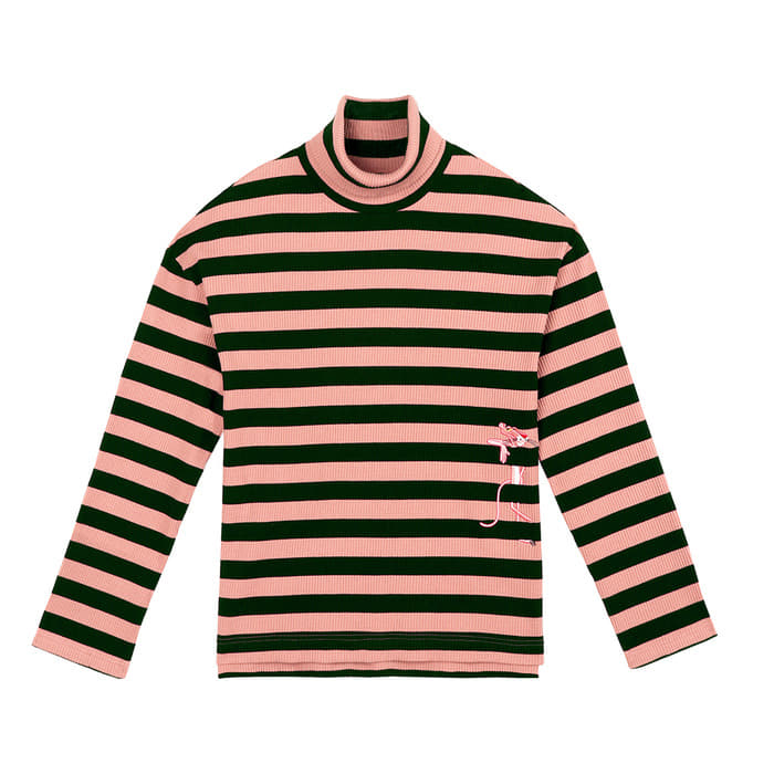 [FW18 Pink Panther] Stripe Turtleneck Long Sleeve(Pink) 스테레오 바이널즈