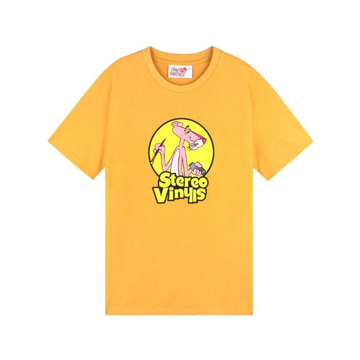[SS19 Pink Panther] PP Vintage T-Shirts(Yellow) 스테레오 바이널즈