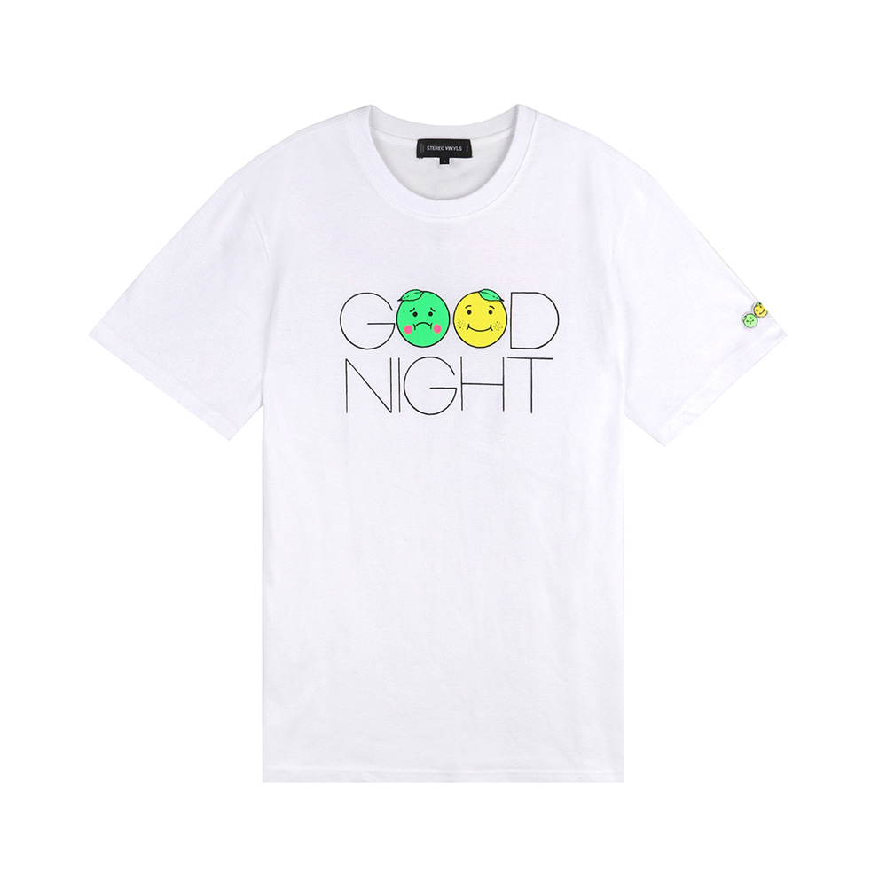 GOODGOOD Lemon & Lime T-Shirts(White) 스테레오 바이널즈