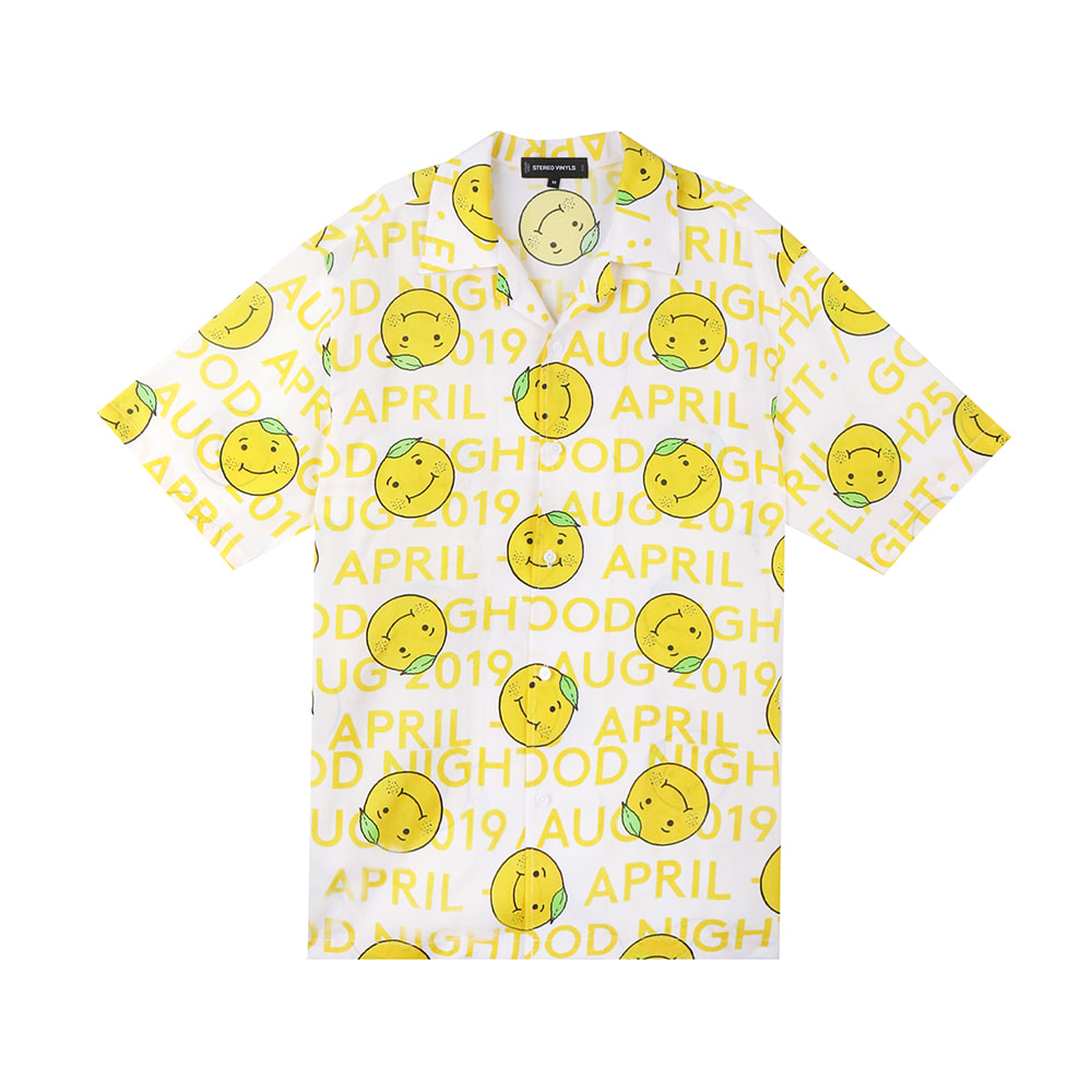 [5/1 예약주문]GOODGOOD Lemon & Lime Rayon Shirts(Yellow) 스테레오 바이널즈