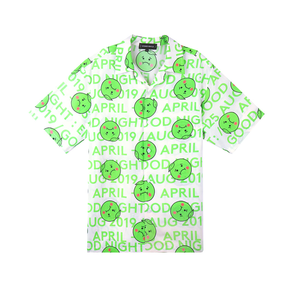 [5/1 예약주문]GOODGOOD Lemon & Lime Rayon Shirts(Green) 스테레오 바이널즈